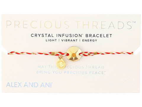 Alex and Ani Precious Threads Metallic Sunshine Swarovski Crystal Royal Cardinal Braid - Assorted