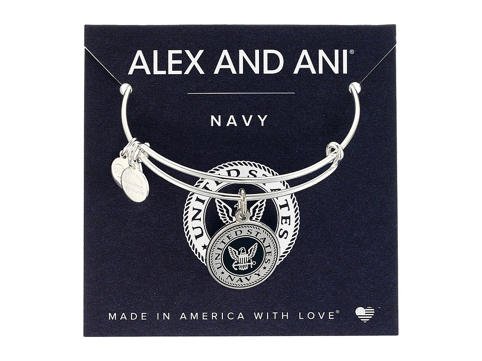 Alex and Ani - US Navy (Shiny Silver) Bracelet