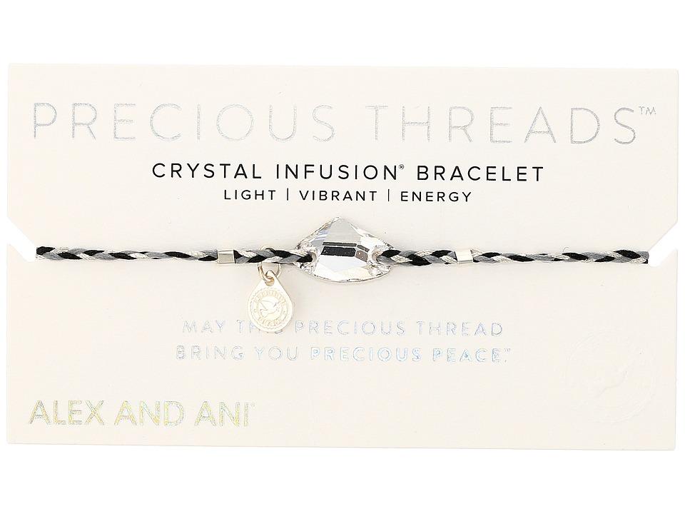 Alex and Ani - Precious Threads Crystal Galactic Swarovski Crystal Silver Crescent Braid