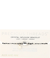 Alex and Ani - Precious Threads Crystal Galactic Swarovski Crystal Silver Crescent Braid