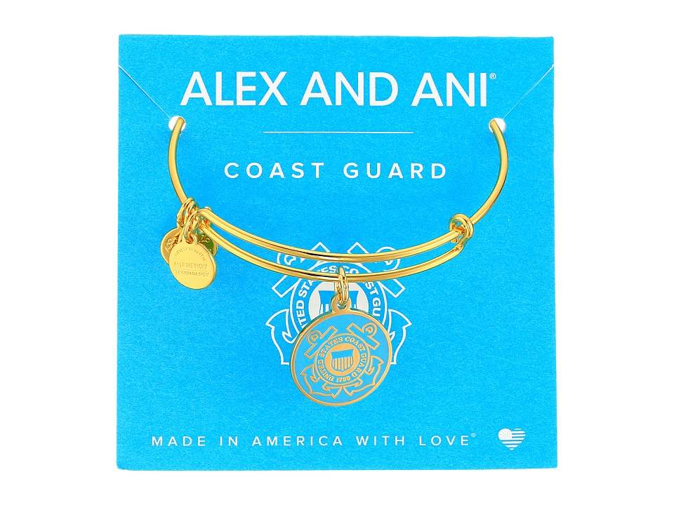 Alex and Ani - US Coast Guard (Gold) Bracelet