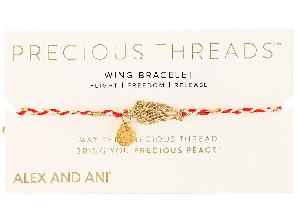 Alex and Ani - Precious Threads Wing Royal Cardinal Braid