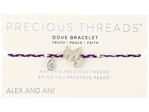 Alex and Ani Precious Threads Dove Inky Purple Braid - Rose