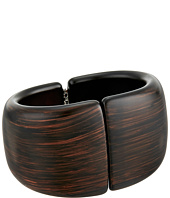 Kenneth Jay Lane - Dark Wood Front Closure Hinged Cuff Bracelets