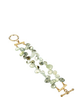Kenneth Jay Lane - 2 Row Jade Bead Bracelet with Gold Toggle Clasp