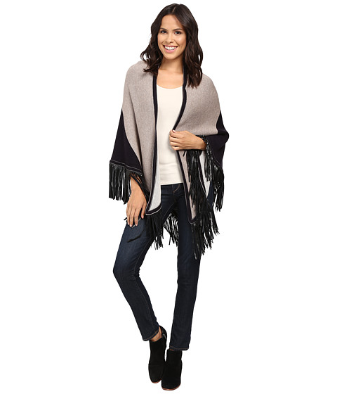 NIC+ZOE Color Block Fringe Scarf