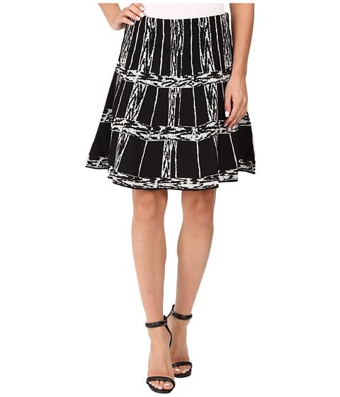 NIC+ZOE - Windowpane Twirl Skirt (Multi) Women's Skirt