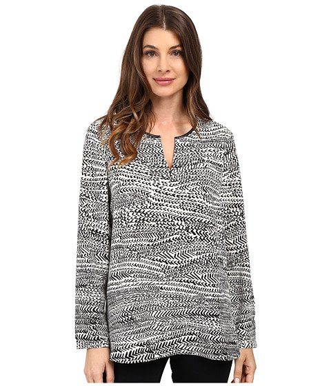 NIC+ZOE - In Stitches Top (Multi) Women's Clothing