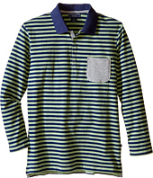 Toobydoo - Maddox Long Sleeve Striped Polo (Toddler/Little Kids/Big Kids)