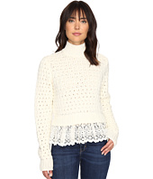 Rebecca Taylor - Pop Stitch Sweater with Lace