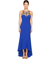 Marchesa Notte - Stretch Crepe High-Low Gown with Beaded Bodice