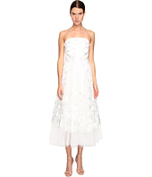 Marchesa Notte - Strapless Tea Length Tule Butterfly Dress