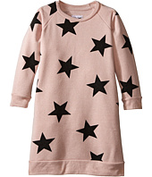 Nununu - Star Print A-Line Sweatshirt Dress (Infant/Toddler/Little Kids)