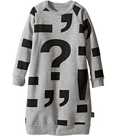 Nununu - Punctuation Print Extra Soft A-Line Sweatshirt Dress (Infant/Toddler/Little Kids)