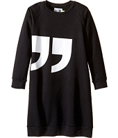 Nununu - Quotation Extra Soft A-Line Sweatshirt Dress (Little Kids/Big Kids)
