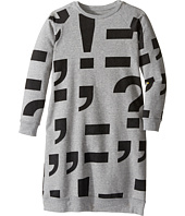 Nununu - Punctuation Print Extra Soft A-Line Sweatshirt Dress (Little Kids/Big Kids)