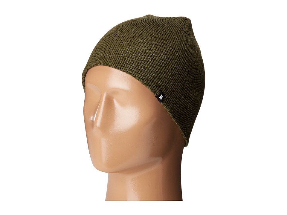 Hurley One and Only Knit Hat (Faded Olive) Beanies