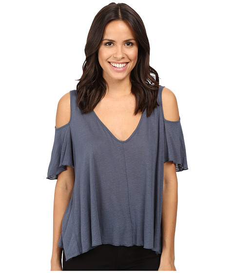 Free People Bittersweet Tee - Denim Blue