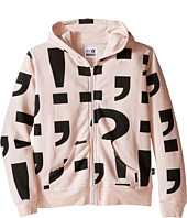 Nununu - Extra Soft Punctuation Screen Zip Hoodie (Little Kids/Big Kids)