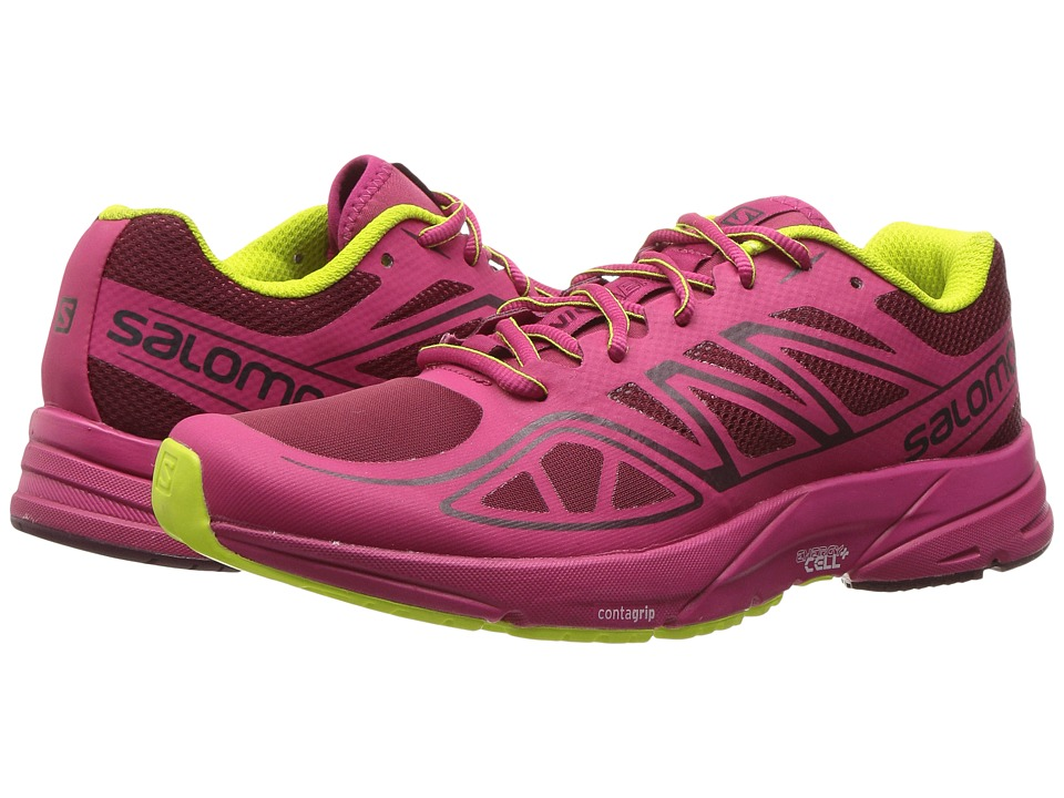 Salomon - Sonic Aero (Tibetan Red/Sangria/Lime Punch) Womens Shoes