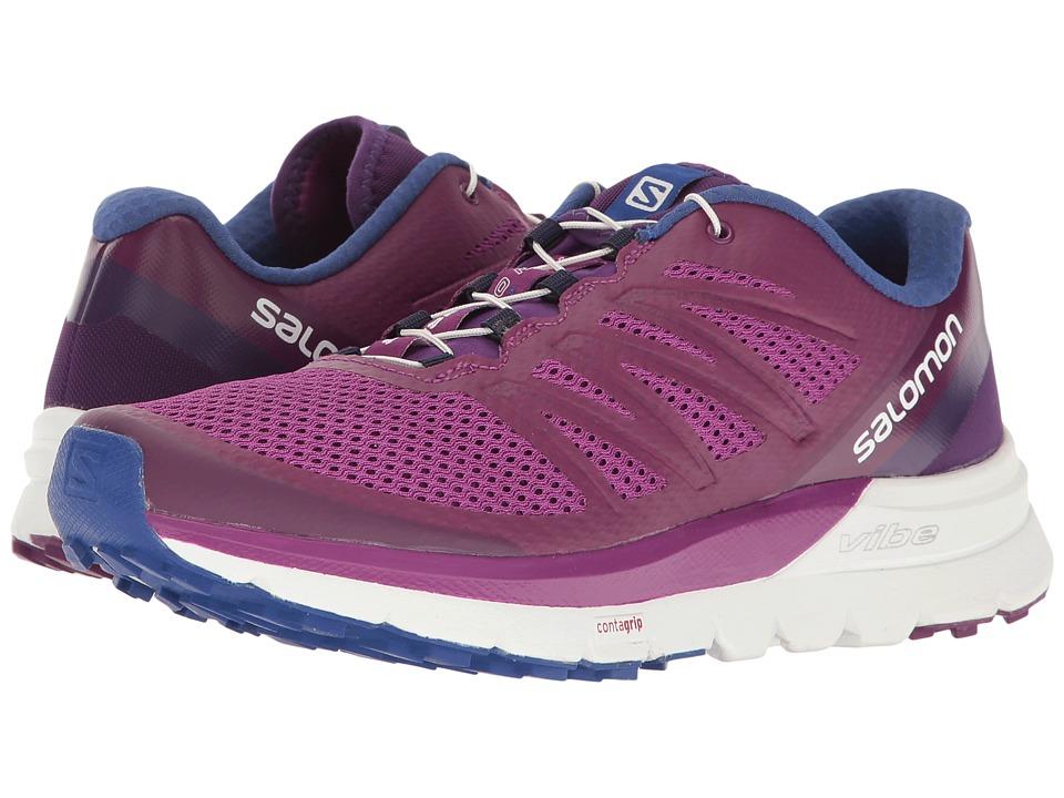 Salomon - Sense Pro Max (Grape Juice/White/Surf The Web) Womens Shoes