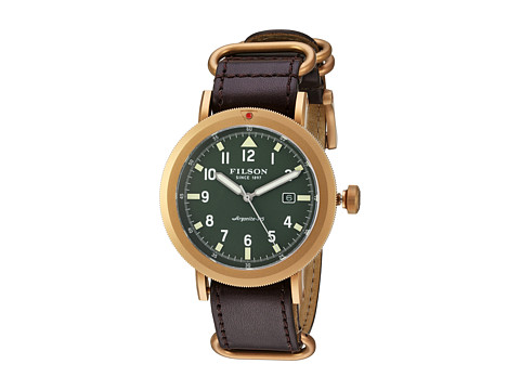 Filson Scout Watch 45 mm - Stainless Steel/Bridle Leather