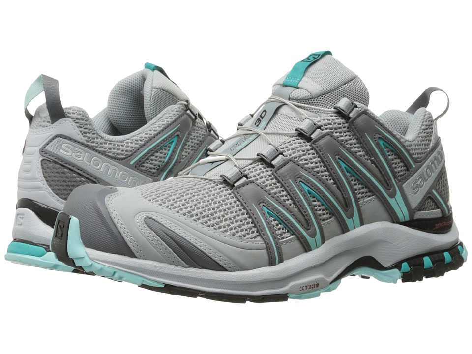 Salomon - XA Pro 3D (Quarry/Pearl Blue/Aruba Blue) Womens Running Shoes