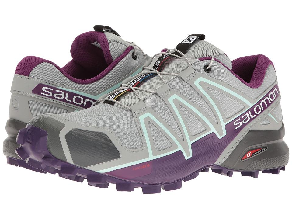 Salomon Speedcross 4 (Quarry/Acai/Fair Aqua) Women