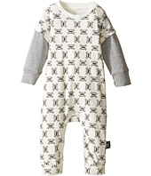 Nununu - Super Soft Mini Skull Print Playsuit (Infant)