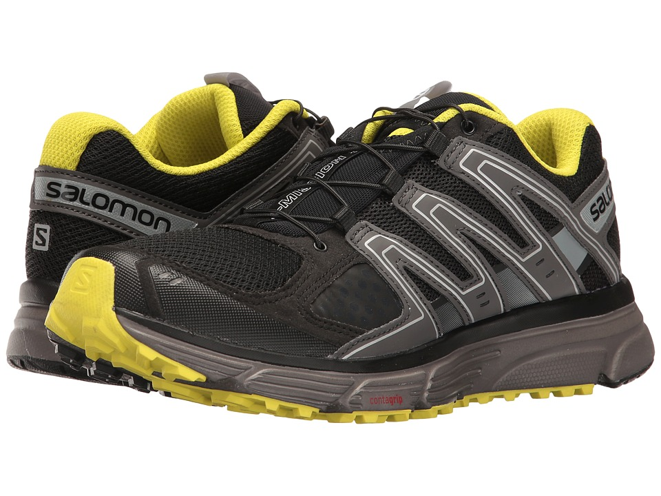 Salomon - X-Mission 3 (Black/Magnet/Sulphur Spring) Mens Shoes