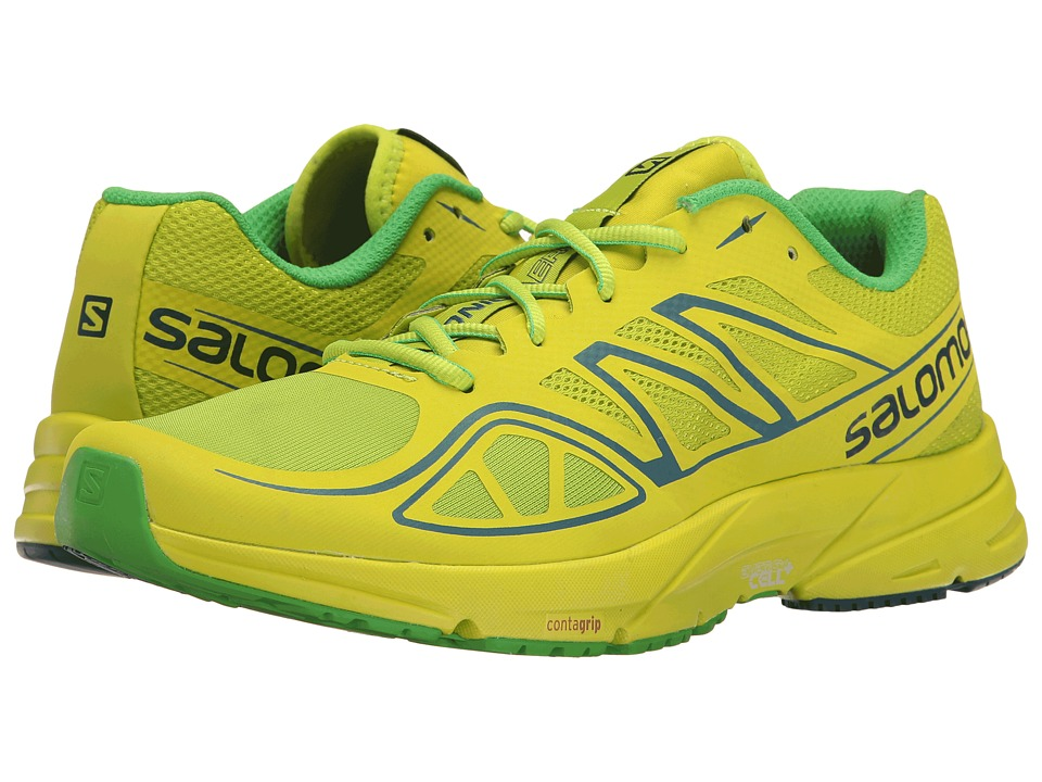 Salomon - Sonic Aero (Lime Green/Lime Punch/Classic Green) Mens Shoes