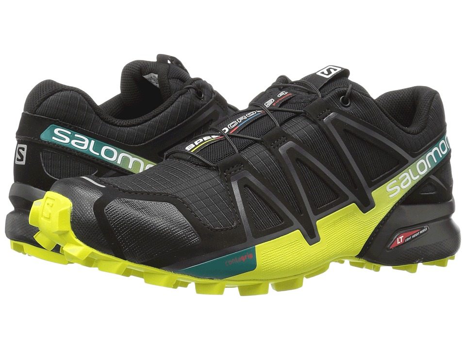 Salomon - Speedcross 4 (Black/Everglade/Sulphur Spring) Mens Shoes