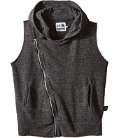 Nununu - Diagonal Hooded Super Soft Sweatshirt Vest (Little Kids/Big Kids)