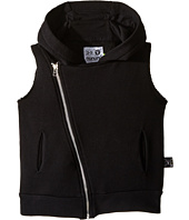 Nununu - Diagonal Hooded Super Soft Sweatshirt Vest (Infant/Toddler/Little Kids)