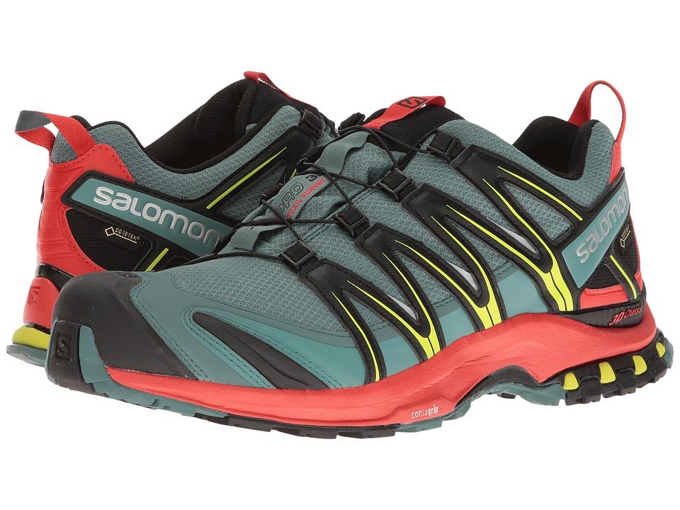 Salomon - XA Pro 3D GTX (North Atlantic/Fiery Red/Black) Mens Shoes