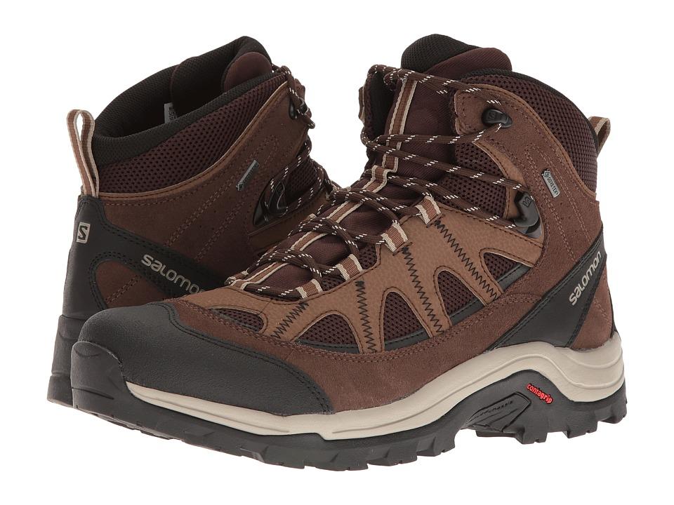 Salomon Authentic LTR GTX (Black Coffee/Chocolate Brown/Vintage Kaki) Men's  Shoes