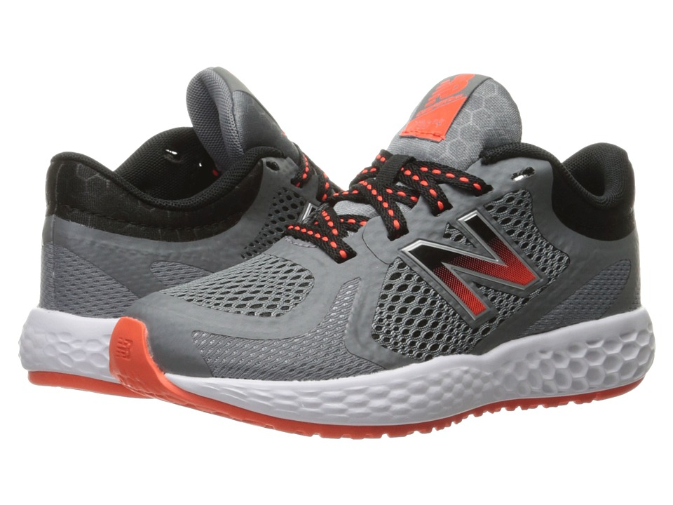 New Balance Kids KJ720v4 (Little Kid/Big Kid) (Grey/Orange) Boys Shoes