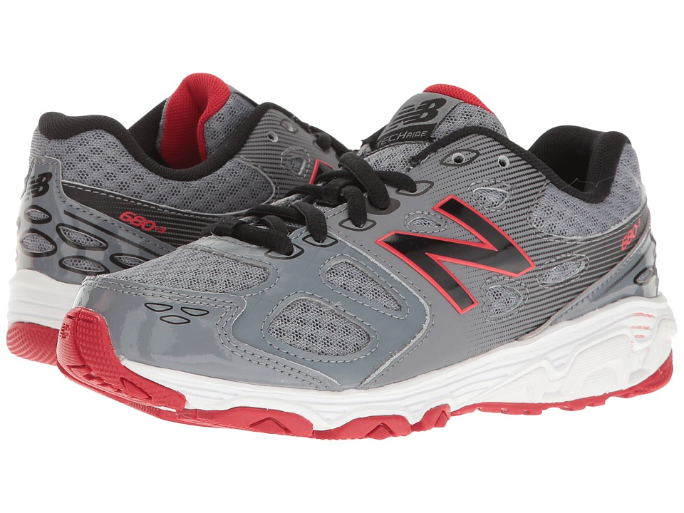 New Balance Kids - KR680v3 (Little Kid/Big Kid) (Grey/Black) Boys Shoes