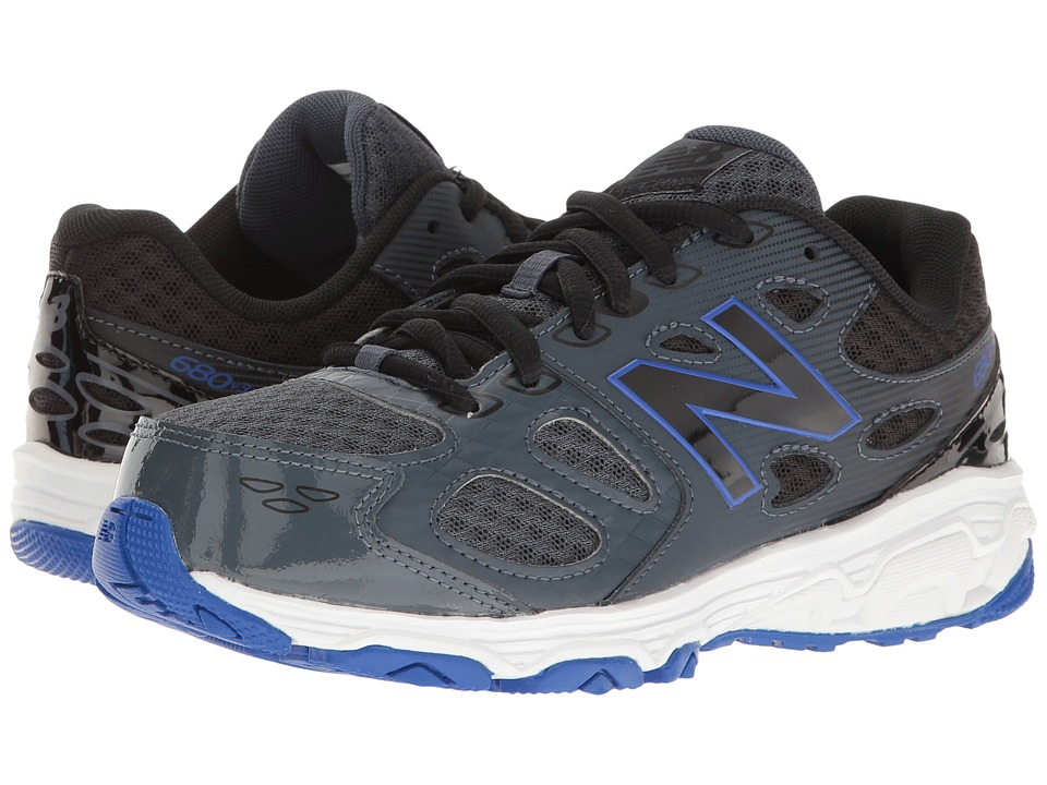 New Balance Kids KR680v3 (Little Kid/Big Kid) (Grey/Blue) Boys Shoes