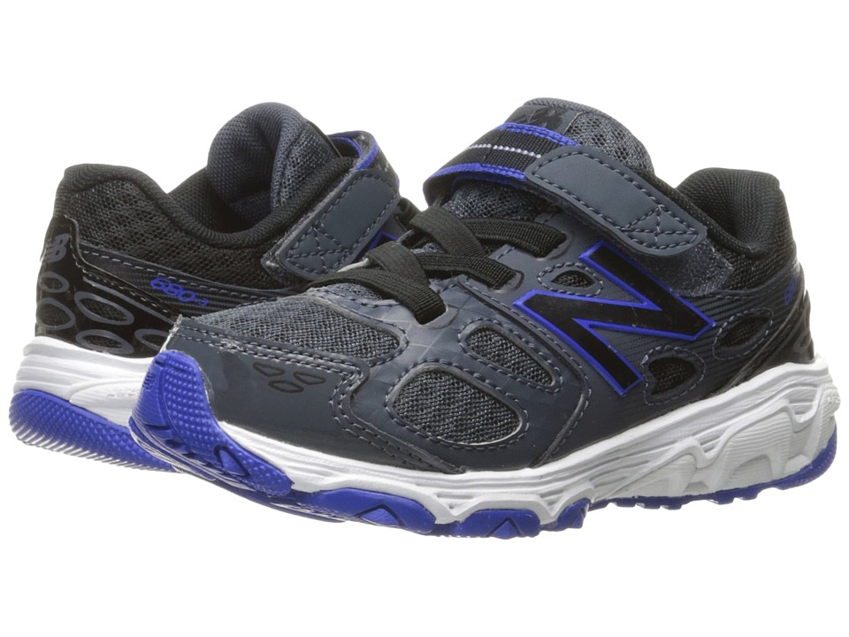 New Balance Kids KA680v3 (Little Kid/Big Kid) (Grey/Blue) Boys Shoes