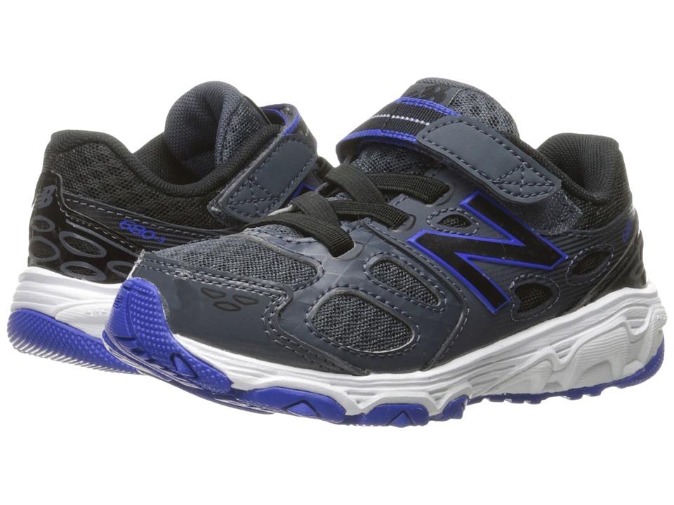New Balance Kids KA680v3 (Little Kid/Big Kid) (Grey/Blue) Boys Shoes