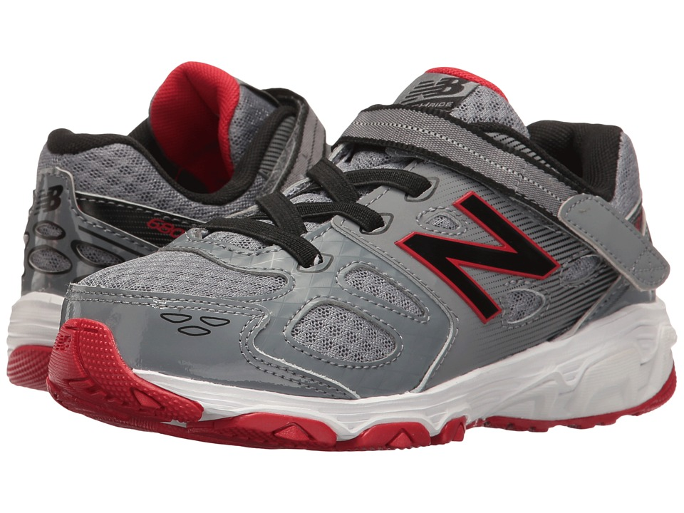 New Balance Kids KA680v3 (Little Kid/Big Kid) (Grey/Black) Boys Shoes