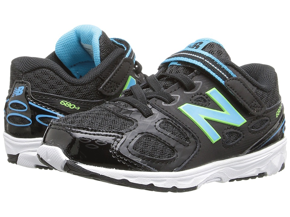 New Balance Kids KA680v3 (Infant/Toddler) (Black/Blue) Girls Shoes
