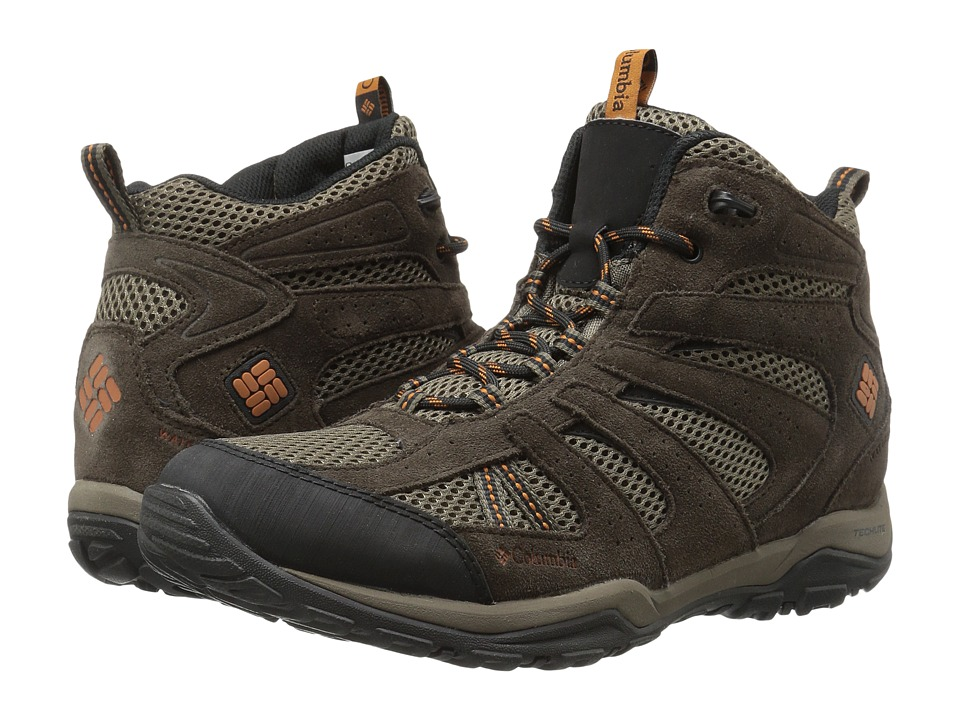 Columbia - North Plains Drifter Waterproof (Mud/Bright Copper) Mens Shoes