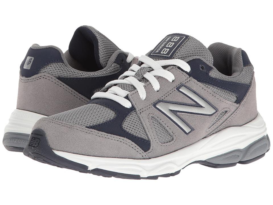 New Balance Kids KJ888v1 (Big Kid) (Grey/Navy) Boys Shoes