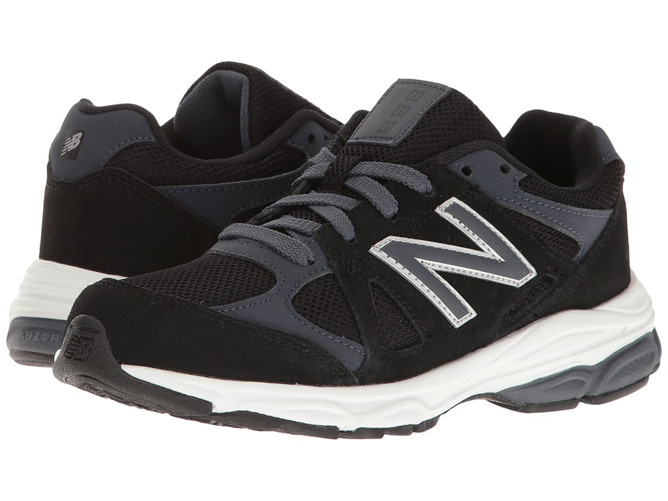 New Balance Kids KJ888v1 (Big Kid) (Black/Grey) Boys Shoes