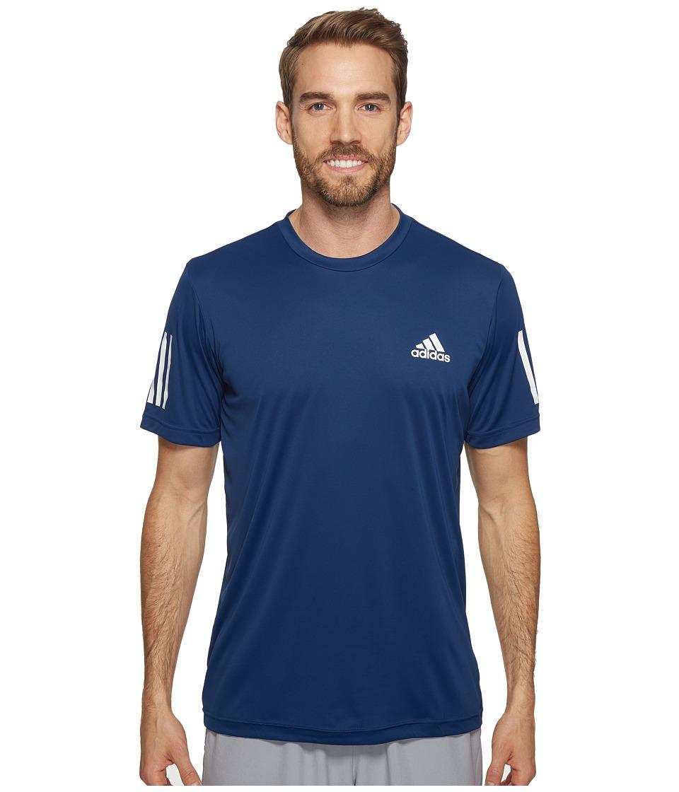 adidas Club Tee (Mystery Blue/White/Glow Orange) Men