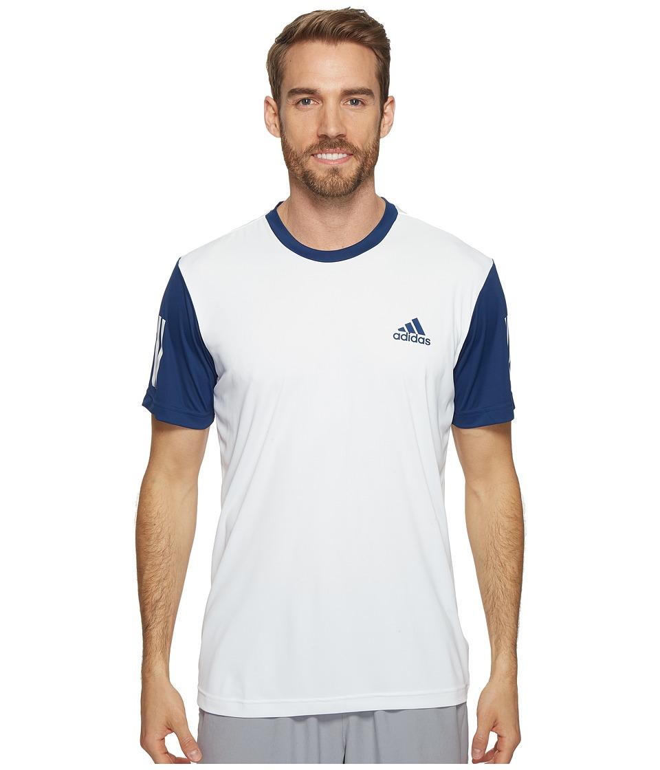 adidas Club Tee (White/Mystery Blue/Glow Orange) Men