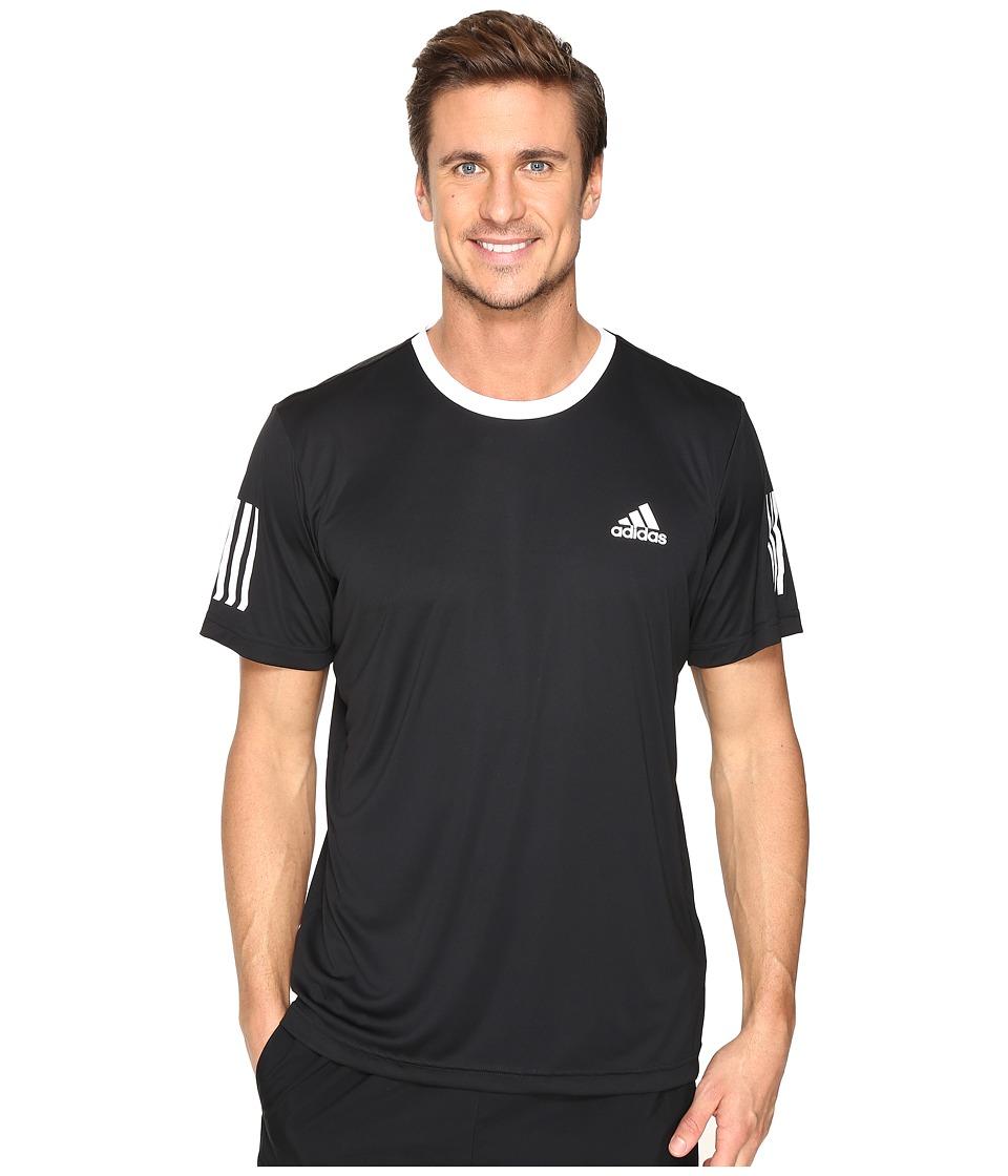 adidas Club Tee (Black/White/Grey) Men