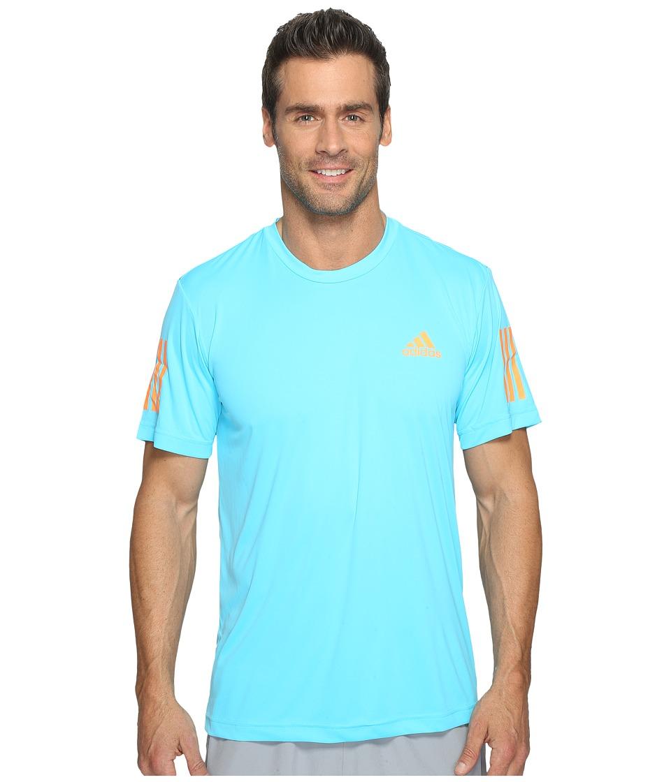 adidas Club Tee (Samba Blue/Glow Orange/White) Men